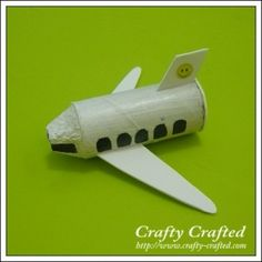 airplane! toilet paper roll fuselage + egg carton nose + wings = tiny flying adventures