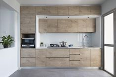 Kitchen design ideas: 10 simply stylish wood-tone HDB flat kitchens 10 - The Home Decor Trends Best Kitchen Layout, Design Your Kitchen, Interior Design Kitchen, Kitchen Furniture, Kitchen Decor, Furniture Stores, Kitchen Pantry, Kitchen Cabinets, Zen Kitchen
