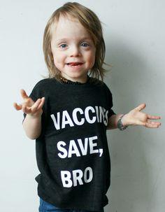Vaccines Save, Bro (Black) | Wire and Honey #provax #vaccines #provaccine