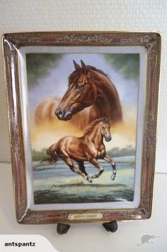 """""""Thoroughbred: Portrait of a Champion"""" - Franklin Mint Plates For Sale, Franklin Mint, Thoroughbred, Fine Porcelain, Art Drawings, Champion, Decorative Plates, Auction, Paintings"""