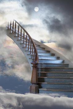 DesignPics Stairway to Heaven - Treppe Stairway To Heaven Tattoo, Stairs To Heaven, Black Background Images, Photo Background Images, Photo Backgrounds, Heaven Wallpaper, Heaven Pictures, Images Of Heaven, Heaven Painting