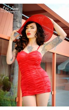 Marilyn Swimsuit in Red - 1950s Inspired - Collections | Pinup Girl Clothing