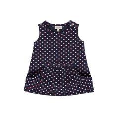 Paul Smith Junior | Baby Girls' Navy Swirl Polka Print Dress