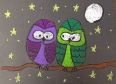Oil Pastel Owls (ARTventurous)