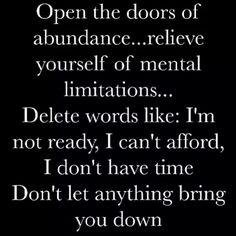 Open door to abundance