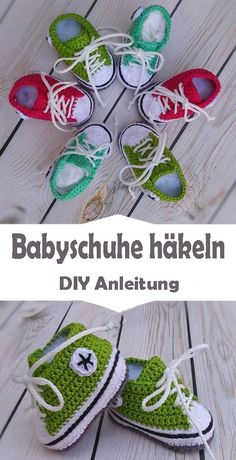 Babyschuhe häkeln – kostenlose Anleitung für Anfänger So that baby's feet are comfortably packed, we put soft baby shoes on them. Crochet chic shoes yourself - that's with the right instructio