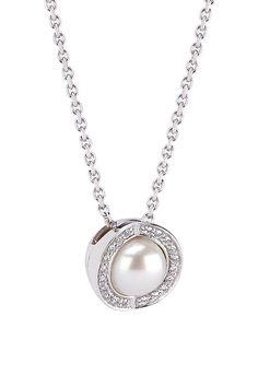 Joy de la Luz | Necklace cz silver/pearl  €90,00