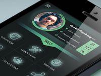 Mobile profile page