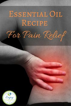 This is the best essential oil recipe for pain relief! If you struggle with pain, you must try this so you can feel better soon. Works for back pain, joint pain, plantar fasciitis, arthritis, neuropathy, fibromyalgia, and more.