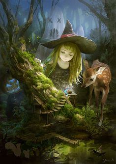 Little Witch, illustration by Yuukikuchi