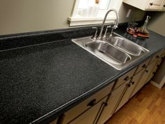 Tired of your worn-out #laminate countertops? Weary of looking at the same old stains and battle scars? Does the color remind you of a bad childhood dream? Here's a Do -it- Yourself guide on how to spruce up your laminates.  http://www.diynetwork.com/kitchen/how-to-repair-and-refinish-laminate-countertops/index.html