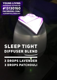 Night Time Sleep Diffuser Blend with Patchouli and Lavender essential oils. Patchouli Essential Oil, Essential Oil Diffuser, Essential Oil Blends, Diffuser Recipes, Diffuser Blends, Young Living Essential Oils, Bath And Body Works, Diy Beauty, Aromatherapy