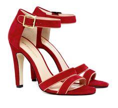 Red Open Toe Heels.