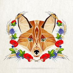 This Artist Creates Awesome Tangram-Inspired Geometric Animal Illustrations Cartoon Sketches, Drawing Sketches, Drawing Ideas, Animal Paintings, Animal Drawings, Art Fox, Fuchs Tattoo, Art Et Illustration, Animal Illustrations