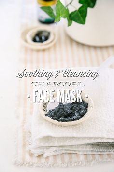 A soothing and cleansing charcoal face mask. This simple three ingredient mask will leave your skin refreshed and cleansed.