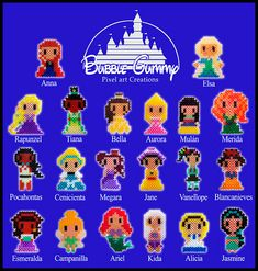 Disney girls perler beads