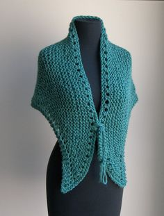 Hand Knit Small Shawl Wrap Comfort Prayer Vegan by PeacefulPath on Etsy