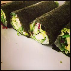 Quinoa avocado salad nori wrap