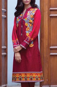Buy Pakistani Designer Top Kurtis/Tunics Online - with best custom size tailoring service and worldwide shipment service. Latest Pakistani Dresses, Tunics Online, Pakistani Designers, Party Fashion, Kurti, Party Dress, Deep, Clothes, Shopping
