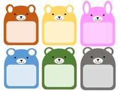 어린이집 이름표 도안 / 동물 이름표 : 네이버 블로그 Preschool Decor, Preschool Activities, Happy Birthday Banner Printable, Printable Border, Monster Coloring Pages, Kids Labels, Certificate Design, 1st Day Of School, Tumblr Stickers