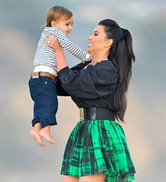 Kim Kardashian and Mason