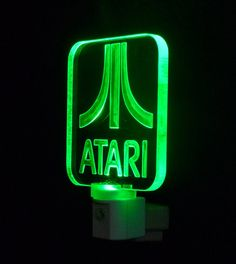 Personalized Atari LED Night Light Can by UniqueLEDProducts