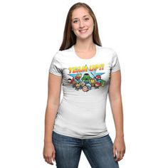 The Avengers Chibi Team Fitted Ladies' Tee