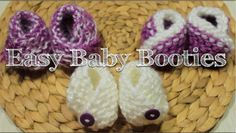 Loom Knitting: Simple Baby Booties