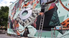 """RE:SORB Mapping at Urban Spree, Streetart by """"Low Bros"""""""