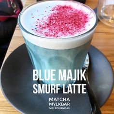 This beautiful SMURF LATTE has been getting international recognition! Check out Matcha MylkBar in Melbourne Au and try this delicious latte made with Blue Majik. Here's some of the press: http://www.dailymail.co.uk/femail/article-3683988/Matcha-Mylkbar-c