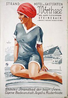 Vintage travel poster - Artist :      Alfred Koch and Richard Knab