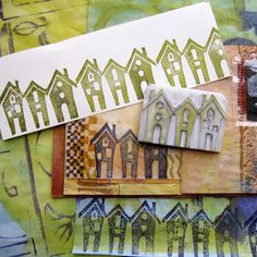 Hand carved house stamp