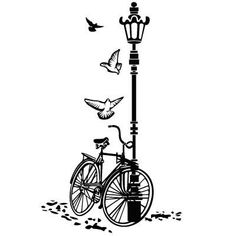 Wandtattoos: Fahrrad und Laternenpfahl Source by The post Wandtattoos: Fahrrad und Laternenpfahl app Silhouette Art, Silhouette Cameo Projects, Wall Drawing, Art Drawings, Bicycle Tattoo, Paris Vintage, Diy Wall Painting, Vinyl Quotes, Decoupage Vintage