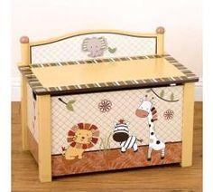 Nali Jungle Toy Box by Cocalo - Childrens Toy Boxes - 7019-970
