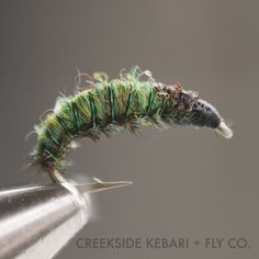 Green Rock Worm 3 flies by CreeksideKebari on Etsy