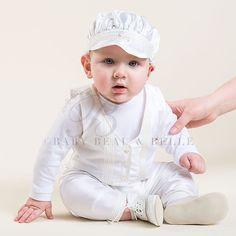 Newborn Boy 3-Piece Set - Paul Christening/Baptism Collection - Adorable Gowns & Suits