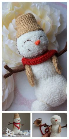 Newest Photo amigurumi free pattern snowman Ideas Amigurumi Small Snowman Free Pattern – Amigurumi Free Patterns And Tutorials : Amigurumi Small S Crochet Dolls Free Patterns, Christmas Crochet Patterns, Free Crochet, Crochet Baby Bibs, Crochet Buttons, Crochet Toys, Crochet Bookmarks, Chunky Crochet, Crochet Projects