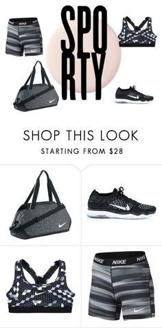 """""""Sporty"""" by lilyismyname-13 ❤ liked on Polyvore featuring NIKE and fabulous"""