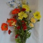 wildflower bouquet, delicate and exquisite artificial silk flowers Wild Flowers Uk, Picking Wild Flowers, Growing Flowers, Real Flowers, Dried Flowers, Artificial Silk Flowers, Silk Flower Arrangements, Yellow Wedding, Wedding Themes