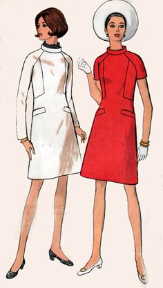 1960s Vintage Sewing Pattern Vogue 7486 MADMEN by sandritocat, $12.00