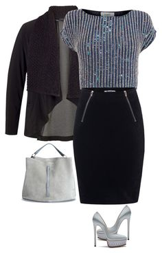 """Wear it in a Black Skirt"" by ella178 ❤ liked on Polyvore featuring Chesca, Coast, T By Alexander Wang, Casadei, Maison Margiela, women's clothing, women's fashion, women, female and woman"