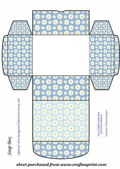 Blue daisy soap box                                                                                                                                                                                 Mais