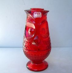 Image detail for -Viking Glass Ruby Red Owl Fairy Light by topsysattic on Etsy Tea Light Candles, Tea Lights, My Glass, Glass Art, Red Owl, Viking Glass, Fairy Lamp, Cranberry Glass, House