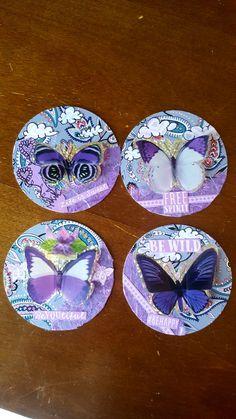 Monochromatic Purple ATCoin Swap! ATC Artist Trading Cards by Kae.Ryan Cork Art, Artist Trading Cards, Atc, Miniatures, Purple, Mini Things, Mockup, Artist Business Cards