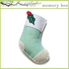 Memory Box Die - Plush Holly Stocking