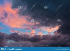 Photo about beautiful sunset storm weather clouds pink sunrise bluehour rai rain westher stormy winter autumn colors nature natural. Image of colors, sunrise, blue - 141230009