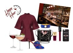 """Wine Please!"" by rachna-priyanka on Polyvore featuring Yves Saint Laurent, STELLA McCARTNEY, Valentino, Malone Souliers, Gucci, NARS Cosmetics, Nordstrom, Crate and Barrel, Marc Alary and happyhour"