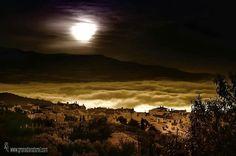 Gualchos entre nubes La Alpujarra.