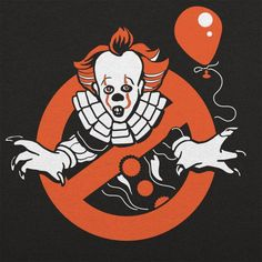 Clownbusters T-Shirt by 6 Dollar Shirts. Scary Movies, Horror Movies, Funny Horror, Horror Cartoon, Clown Horror, Pennywise The Dancing Clown, It Pennywise, Sewer System, Stephen King