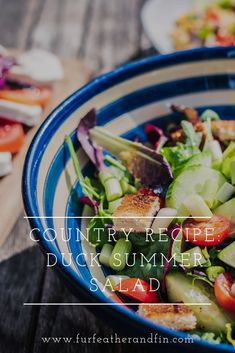 A healthy and delicious recipe with homemade dressing for hot summer evenings, you can mix it up to include ingredients from your garden or allotment. Healthy Summer Recipes, Summer Salad Recipes, Summer Salads, Drink Recipes, Appetizer Recipes, Quail Recipes, Recipe For Success, Homemade Dressing, Secret Recipe